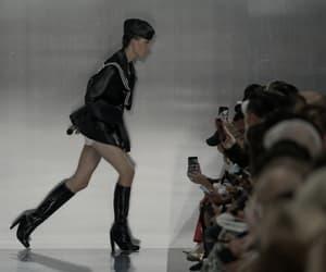 high fashion, model, and runway image