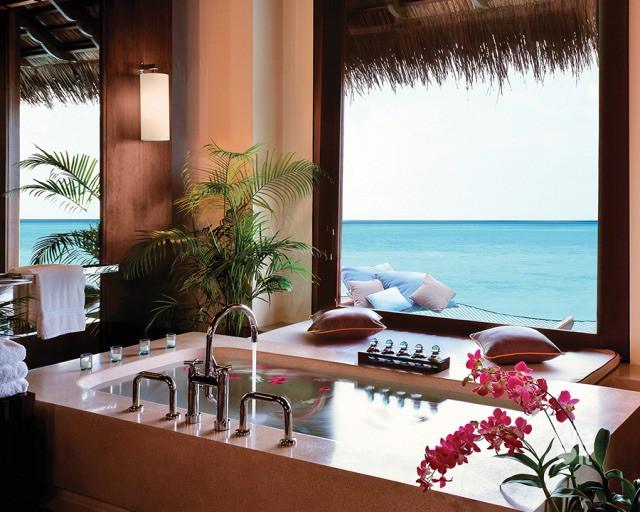 luxury, flowers, and bathroom image