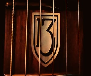 brown, guitars, and numbers image
