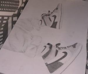 art, air jordan, and draw image