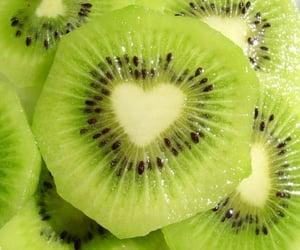 kiwi, fruit, and green image