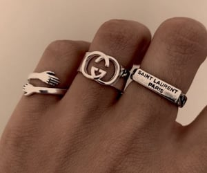 rings, accessories, and gucci image