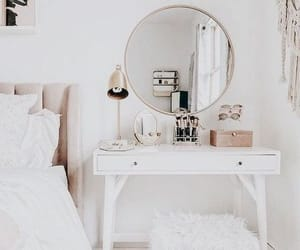 room, bedroom, and mirror image
