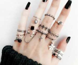 black, girl, and rings image