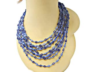 beaded necklace, etsy, and glass beads image