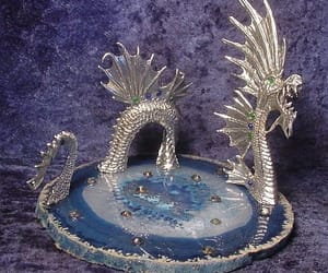 aesthetic, crystal, and dragon image