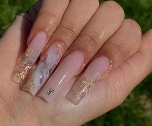 pink nails, long nails, and nails image