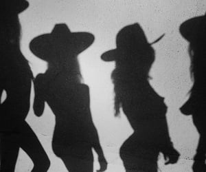 aesthetic, black & white, and cowboy image