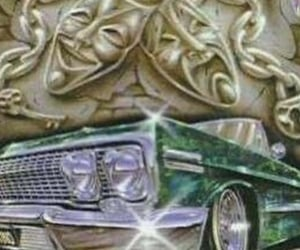 old school, chicano art, and lowrider art image