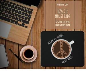 coffee, hippy, and mouse pad image