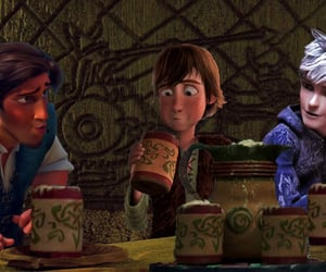 jack frost, tangled, and rise of the guardian image