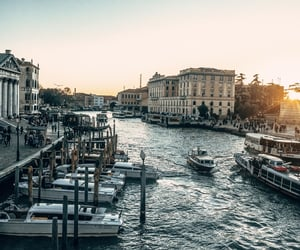 sunset and venice image