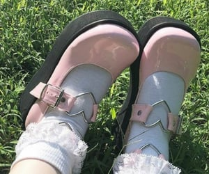 pink, shoes, and soft image
