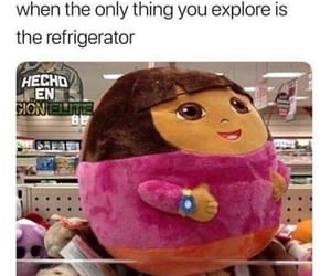 funny, meme, and Dora image