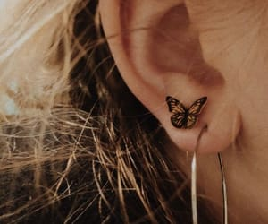 loop, butterfly, and earring image