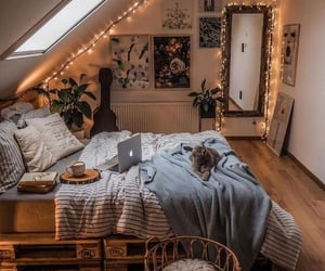 bedroom, cozy, and home image