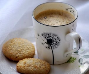 biscuits, milk, and coffee image