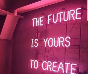 neon, pink, and inspiration image