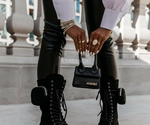 blogger, chunky boots, and fashion image