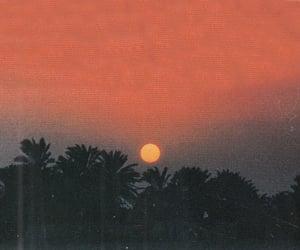 sunset, aesthetic, and orange image