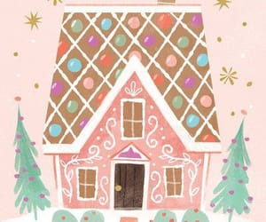 art, christmas, and gingerbread house image