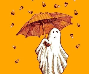 ghost, Halloween, and art image