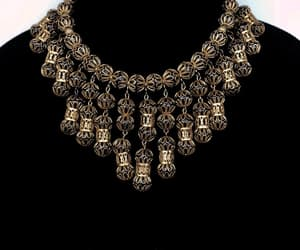 statement necklace, etsy, and art deco necklace image