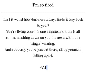 depression, exhausted, and feelings image