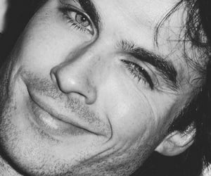 ian somerhalder and black and white image