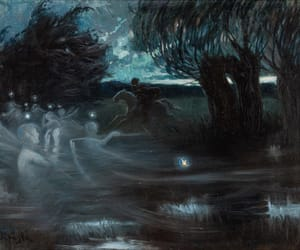 ethereal, horse, and painting image