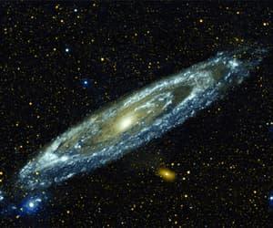 cielo, estrellas, and galaxia image