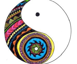 colorful, peace, and ying yang image