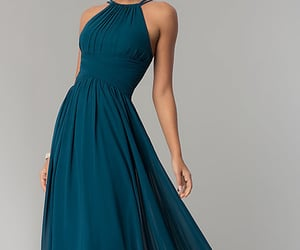 dress, long, and runway image