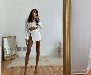 fashion, outfit, and mirror image