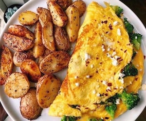 diet, potato, and omelette image