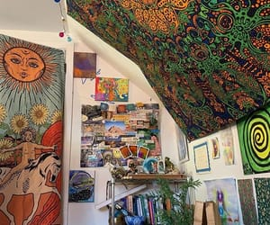 aesthetic, bedroom, and hippie image
