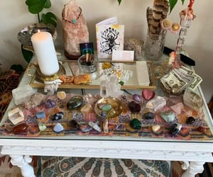altar, crystals, and witchcraft image