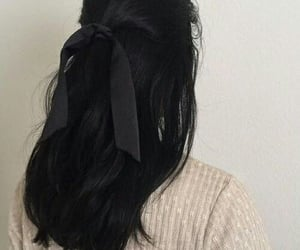 hair, black, and aesthetic image