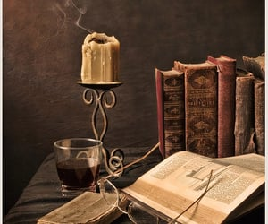 books, glasses, and reading image