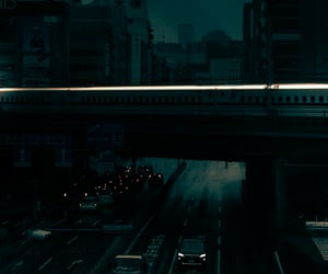 japan, road, and night image