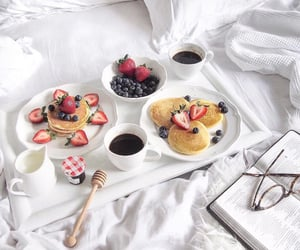 food, breakfast, and in bed image