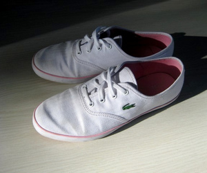 lacoste, white, and shoes image