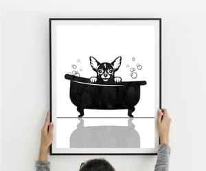 etsy, chihuahua print, and bathroom wall decor image