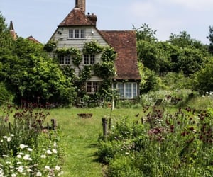cottage, green, and nature image