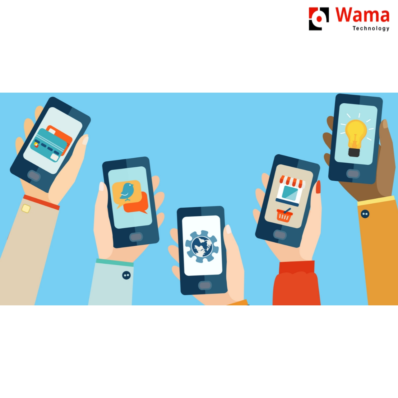 article and mobile app development image