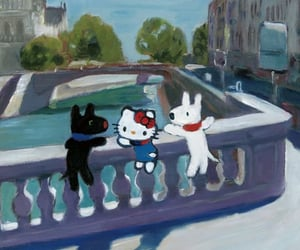 hello kitty, gaspard et lisa, and sanrio image
