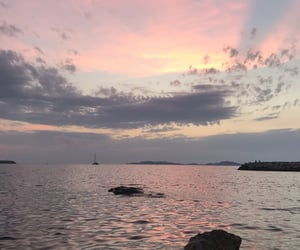 pink, sea, and summer image