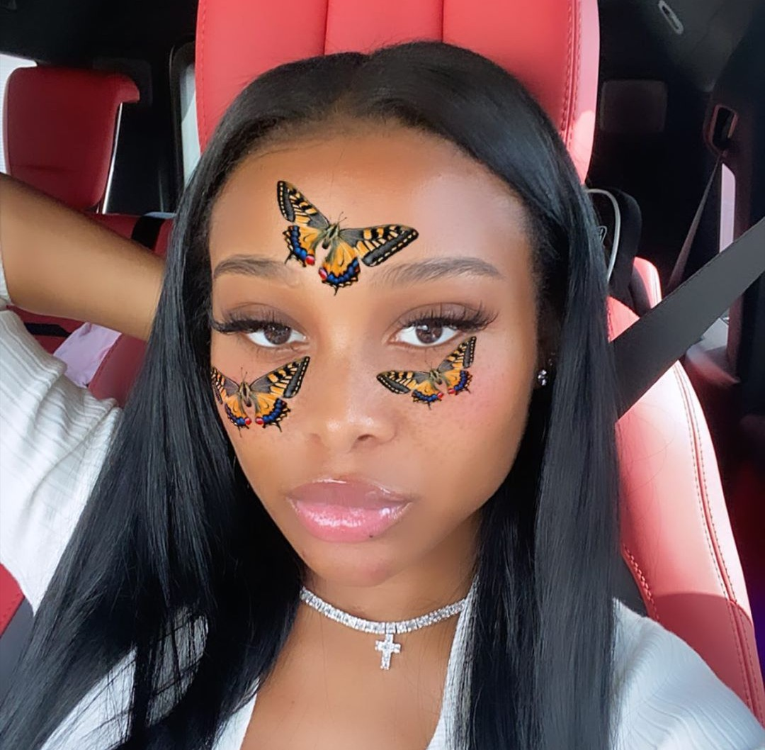 beauty, butterflies, and lashes image