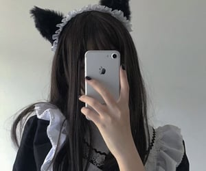 aesthetic, cat ears, and asian image