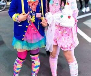jfashion, harajuku fashion, and rainbow core image